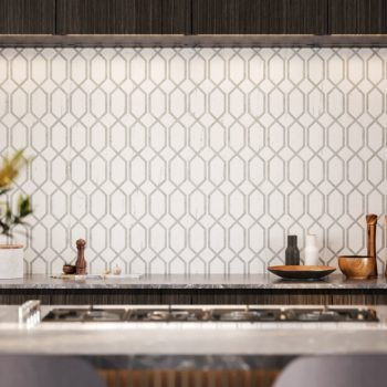 La Marca Statuario Nuovo Modella Polished Mosaic Backsplash