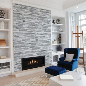Nordic Crystal Ledger Stone Fireplace
